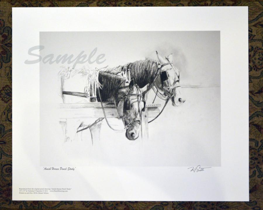 Amish Horses Print Santoleri