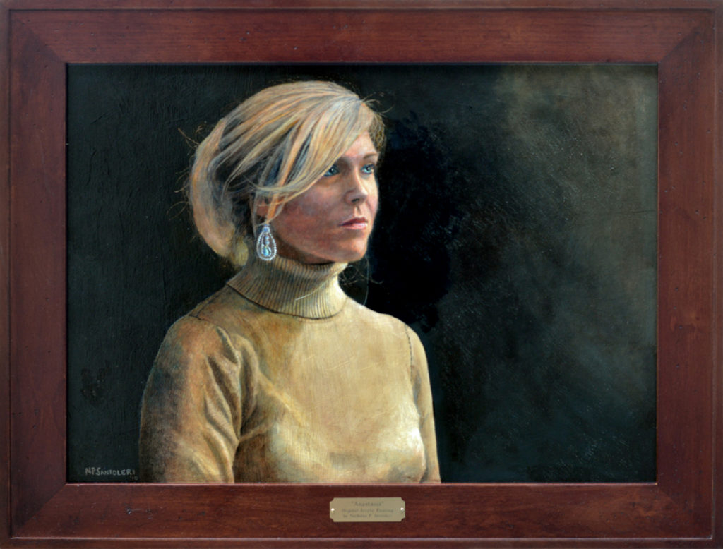 Anastasia Acrylic Painting by Nicholas Santoleri