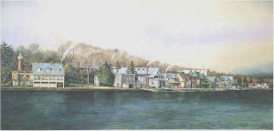 Boathouse Row 3 by N. Santoleri limited Edition Print from Watercolor Painting