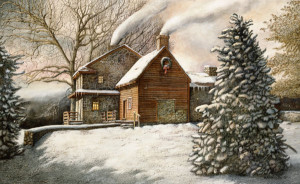 """Brandywine Christmas"" by N. Santoleri limited Edition Print from Watercolor Painting"