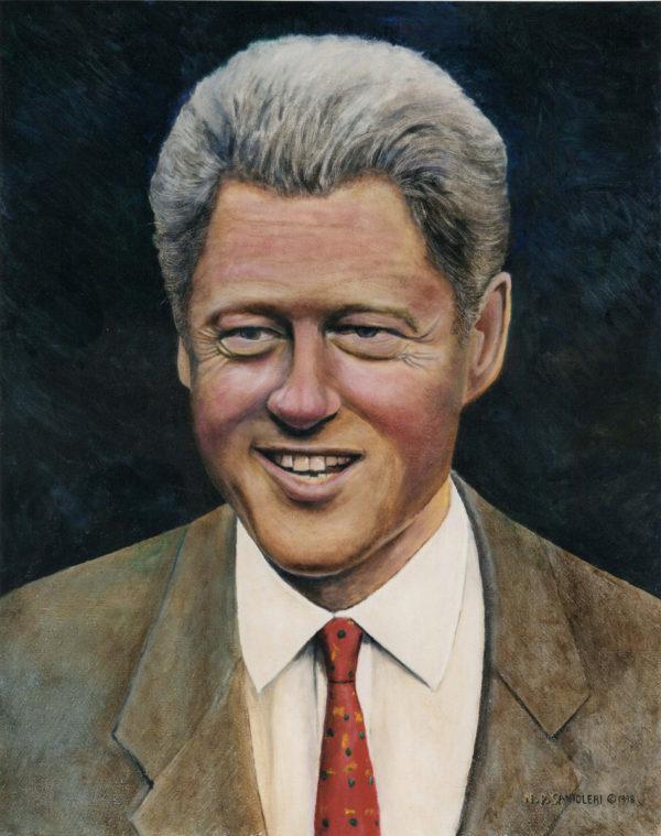 President Clinton Oil Portrait by Portrait Artist Nick Santoleri