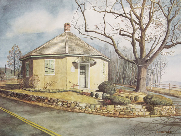 Diamond Rock Schoolhouse Santoleri limited Edition Print from Watercolor Painting