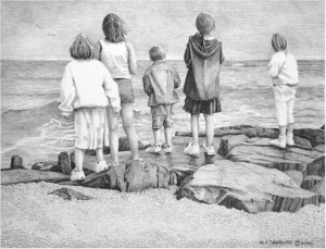 Dolphin Watches - Pencil by N. Santoleri