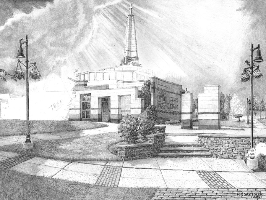 Episcopal Academy Pencil Drawing in Progress 06