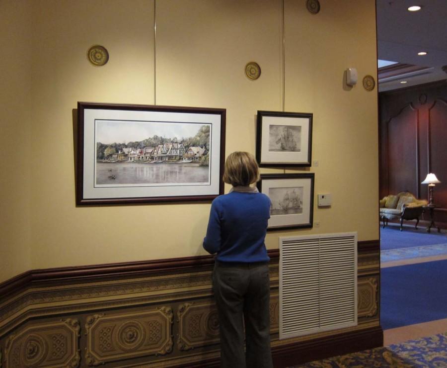 Framed Boathouse Row 6 print