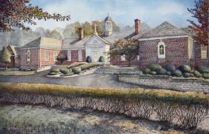 Gwynedd Mercy Academy by Santoleri limited edition prints from watercolor painting