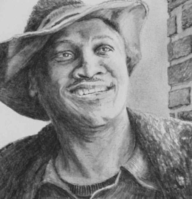 Joe Frazier Detail - Pencil by N. Santoleri
