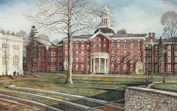 Kutztown University Santoleri limited Edition Print from Watercolor Painting