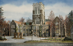 Lehigh University by Santoleri limited edition prints from watercolor painting