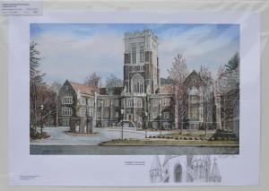 Lehigh University Remarqued Print