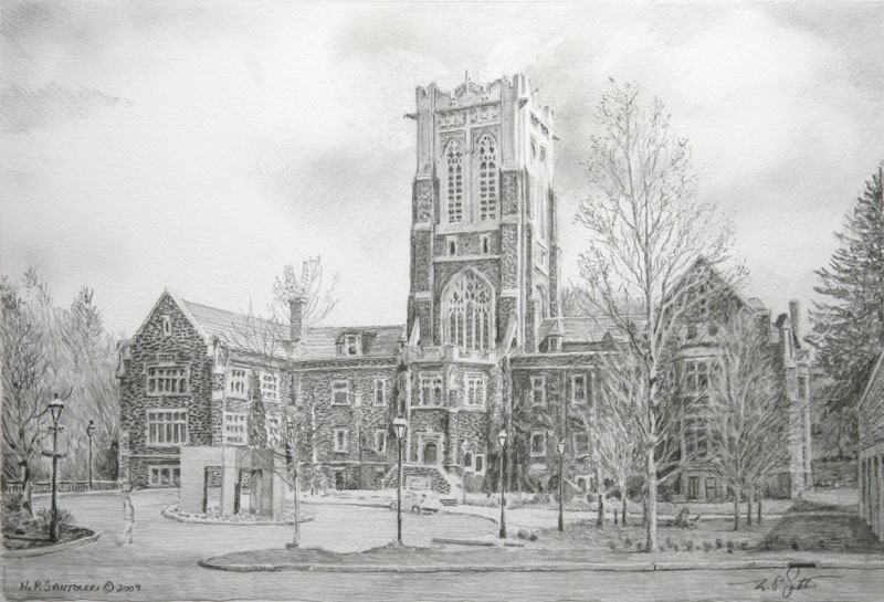 Lehigh Study - Pencil by N. Santoleri