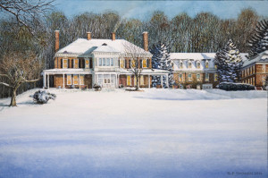 Malvern Retreat House Watercolor Paintings by N. Santoleri
