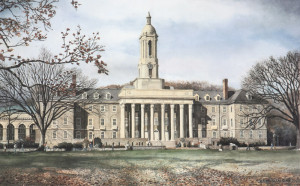 Penn State Old Main Santoleri limited Edition Prints from Watercolor Painting