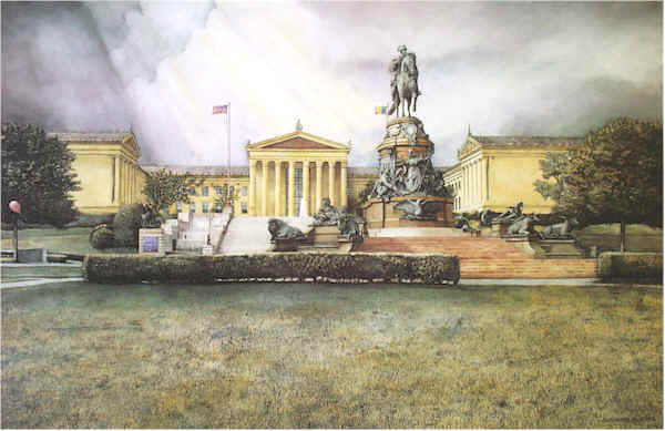 Philadelphia Museum of Art Santoleri limited Edition Print from Watercolor Painting