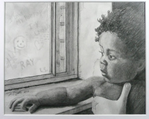 Portrait of Raymond - Pencil by Nick Santoleri