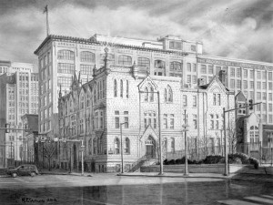 """Roman Catholic High School"" limited edition prints by Santoleri"