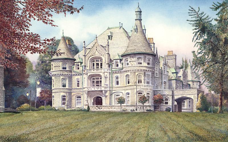 Rosemont College Watercolor Paintings by N. Santoleri