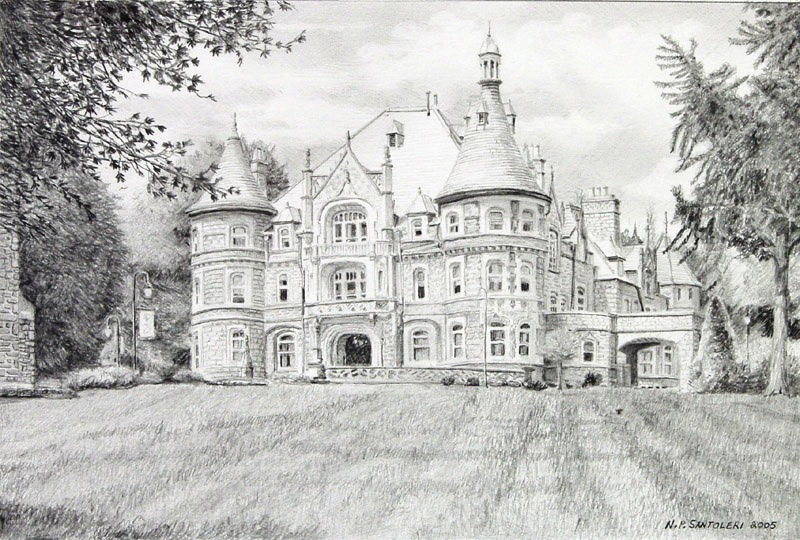 Rosemont College pencil study by Nick Santoleri