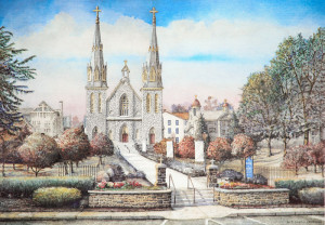 """Saint Thomas of Villanova 4"" by Santoleri limited Edition Prints from Watercolor Painting"