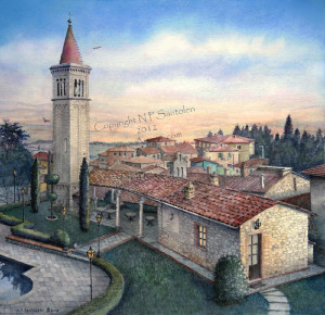 """South Tuscany Sunrise"" limited edition prints by Santoleri"