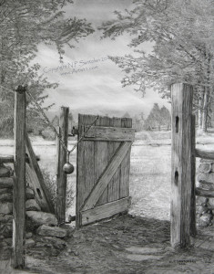 Open Edition Prints of The Gate pencil drawing by Santoleri 2013