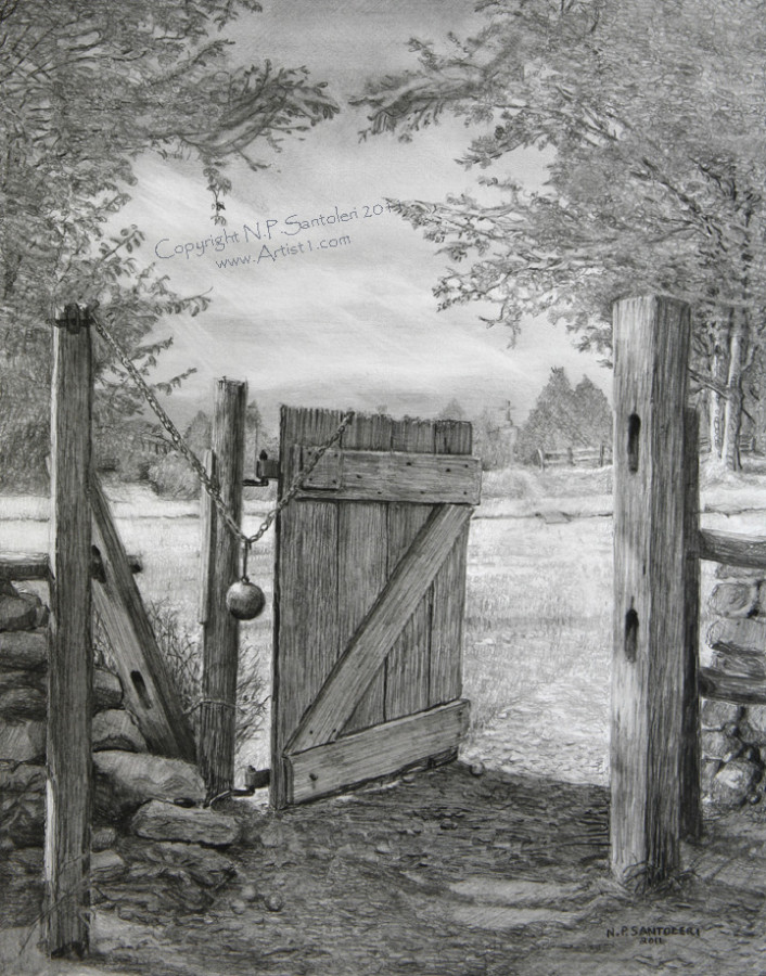Prints of The Gate pencil drawing by Santoleri 2013
