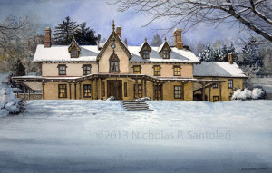 The Grange Estate Watercolor Paintings by N. Santoleri