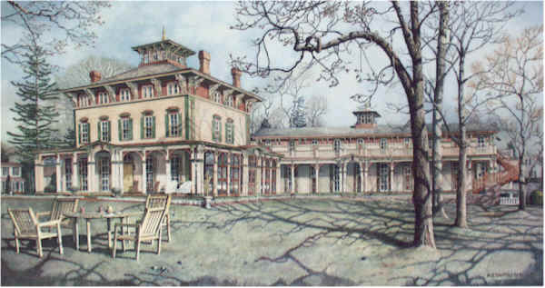 The Southern Mansion Santoleri limited Edition Print from Watercolor Painting
