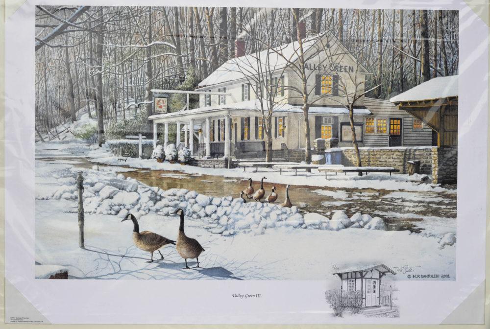Valley Green Inn III Remarqued Print by Santoleri