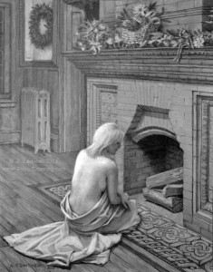 Open Edition Prints of Waiting For Santa pencil drawing by Santoleri 2013