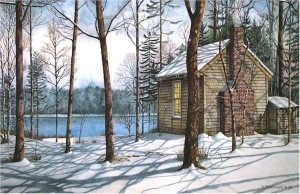On Walden Pond Santoleri limited Edition Print from Watercolor Painting