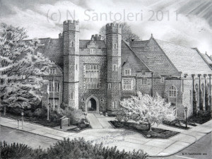 West Chester University - pencil by Santoleri University Prints