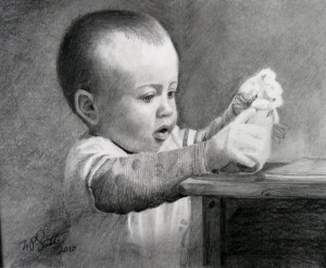 """Thomas"" pencil drawing by N. Santoleri"