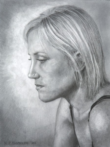 Contemplation - Pencil Drawings by Nick Santoleri 2012