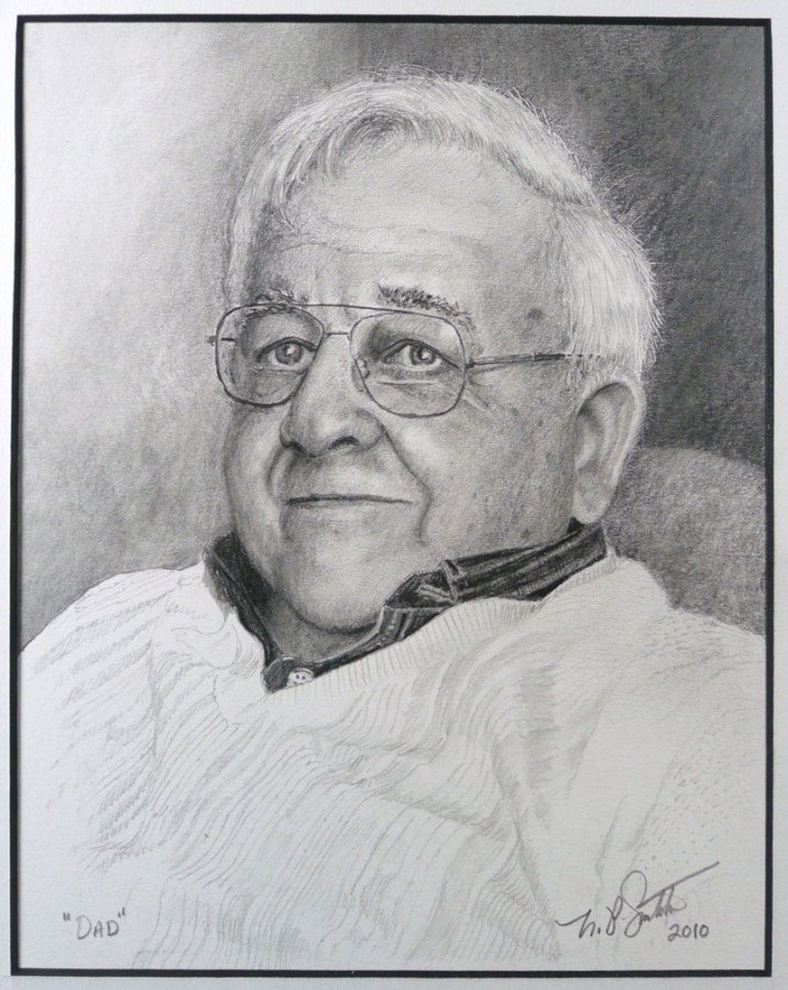 Artists Father pencil drawing by N. Santoleri