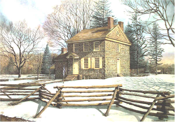 Open Edition Prints of Winter At Valley Forge watercolor painting by Santoleri