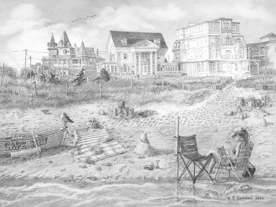 Cape May Drawing in progress 11