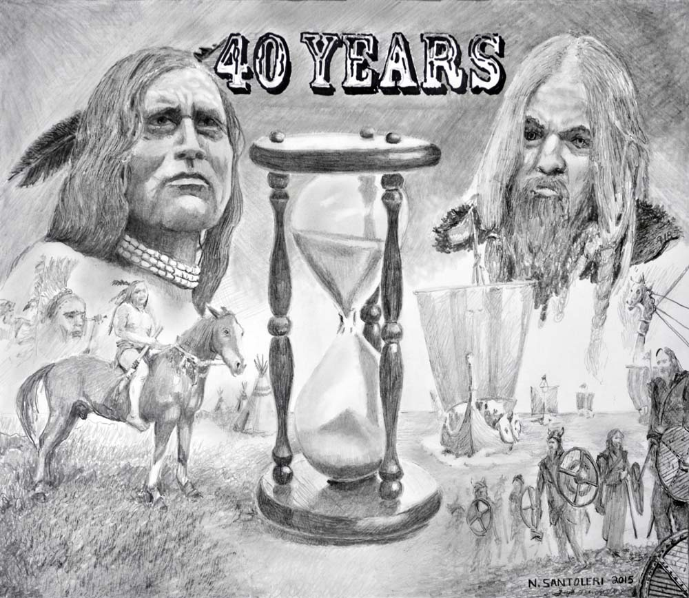 """40 Years"" pencil drawing by Nick Santoleri - Prints available"