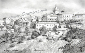 Open Edition Prints of Guardiagrele, Italy pencil drawing by Santoleri
