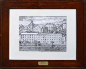 """Manayunk"" Original framed pencil drawing by Santoleri"
