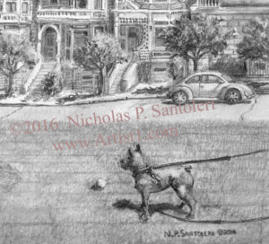 A View from Alamo Square - Detail 1