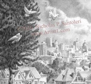 A View from Alamo Square - Detail 2