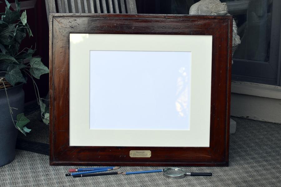 Customized Frame and museum matt prepared for a Santoleri original pencil drawing.