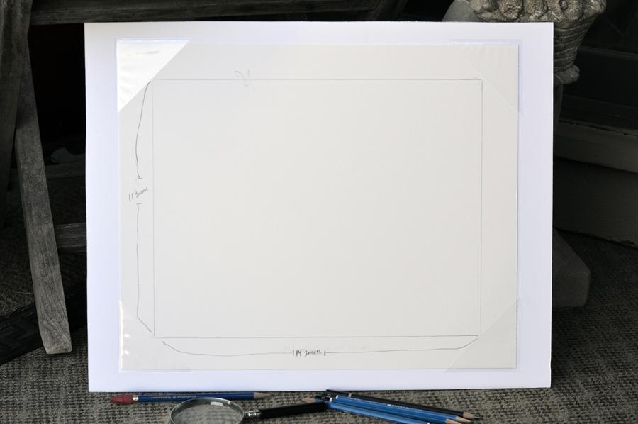 Fine art drawing paper on foam board.