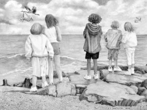 Special Delivery - Pencil Drawing by Nick Santoleri