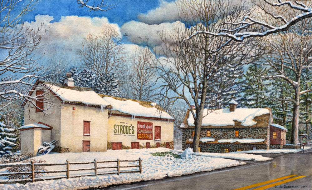Country Fresh by Chester County Watercolor Artist Nick Santoleri