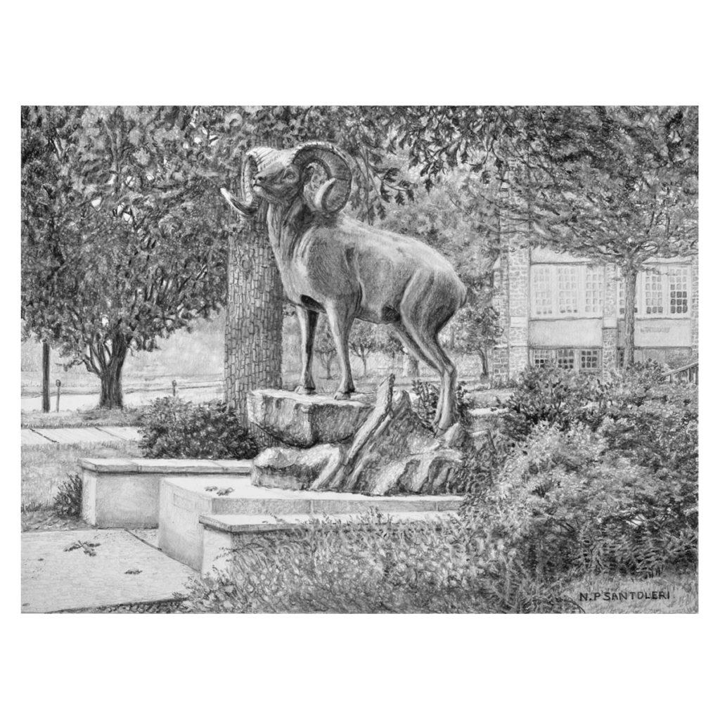 """Standing Guard"" pencil drawing by Nick Santoleri"
