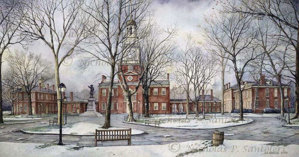 Independence Hall By Nicholas Santoleri