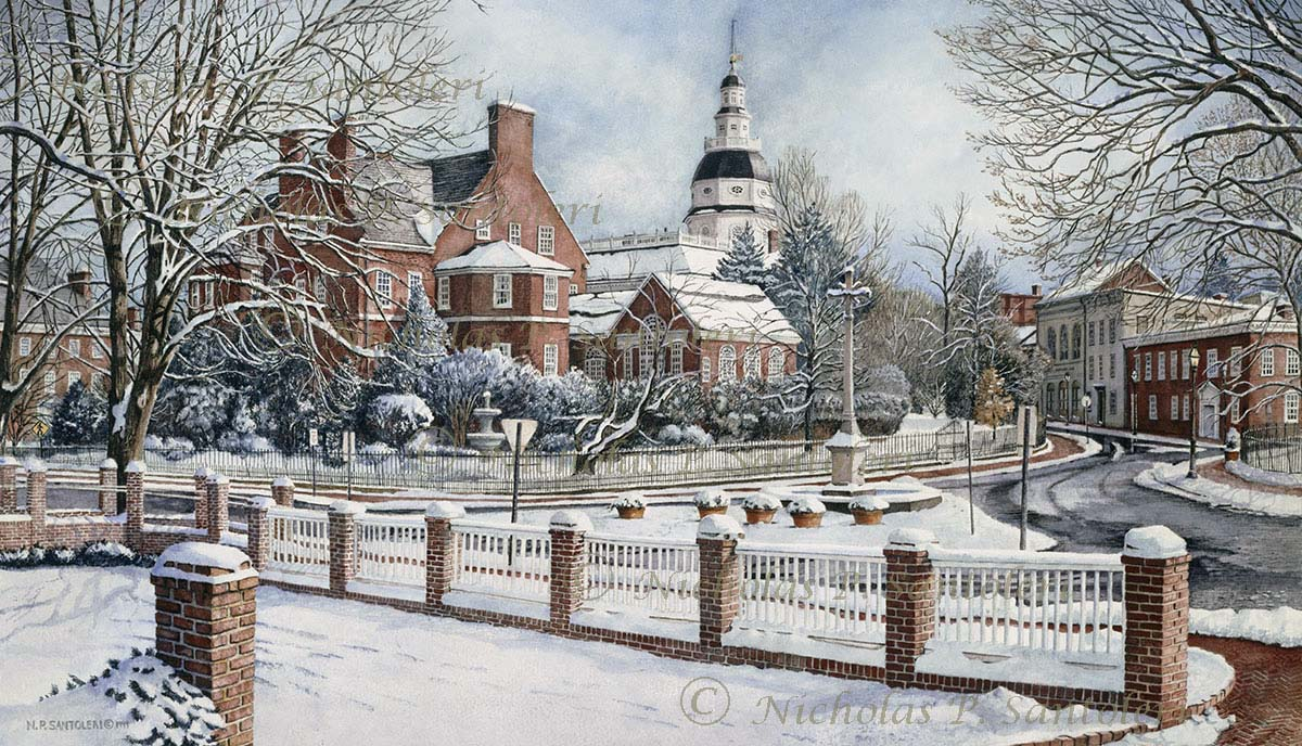 Winter In Annapolis By Nicholas Santoleri
