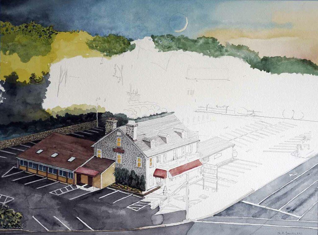 Daybreak at Edgemont painting in progress 01